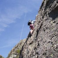 Trish higher on Route 1, White Ghyll (Roger Daley)