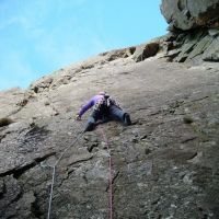 Craig leading 'Kennel Wall' (MS) (Colin Maddison)