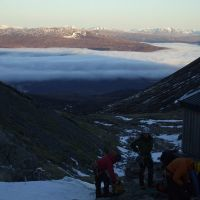 Cloud inversion at CIC Hut (Jim Symon)