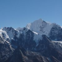 Gan Chegpro (Fluted Peak) from Tserko Ri summit, Nepal (Andy Stratford)