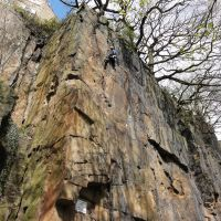 Gareth Williams on Mather Crack E2 5b, New Mills Toors (Andy Stratford)
