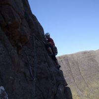Liam Brady on Cioch Nose, Applecross (Jim Symon)