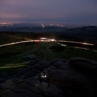 Lighting the jubilee beacon on Haytor (Sean Kelly)