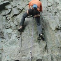 Colin Maddison on Zeus (F6a+), Never Never Land, Quarries (Alan (L) Jones)