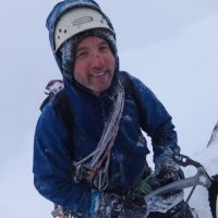 Second Place - Jim Symon enjoys Scottish conditions on The White Line, IV 4, Ben Nevis (Andy Stratford)
